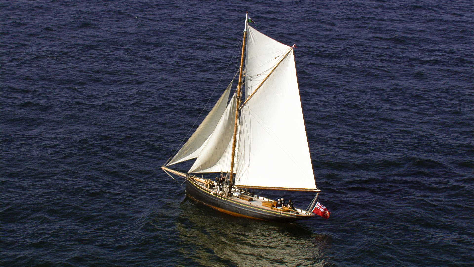 Olga under sail (c) Swansea Museum
