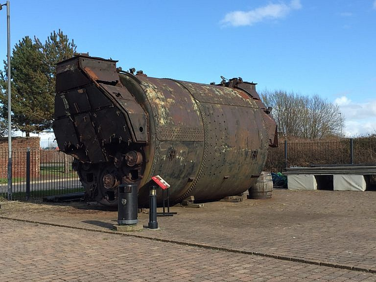 The real boiler as displayed outdoors at the Scottish Maritime Museum, Irvine