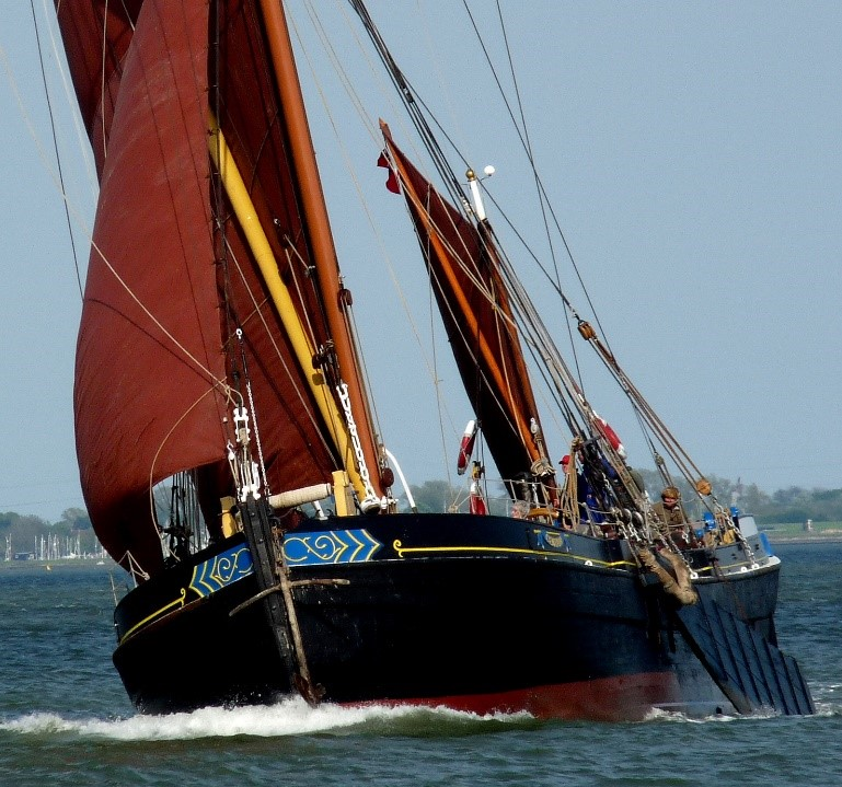 Centaur (1895). Her berth is on the Hythe, Maldon. Owned by Thames Sailing Barge Trust (c) TSBT