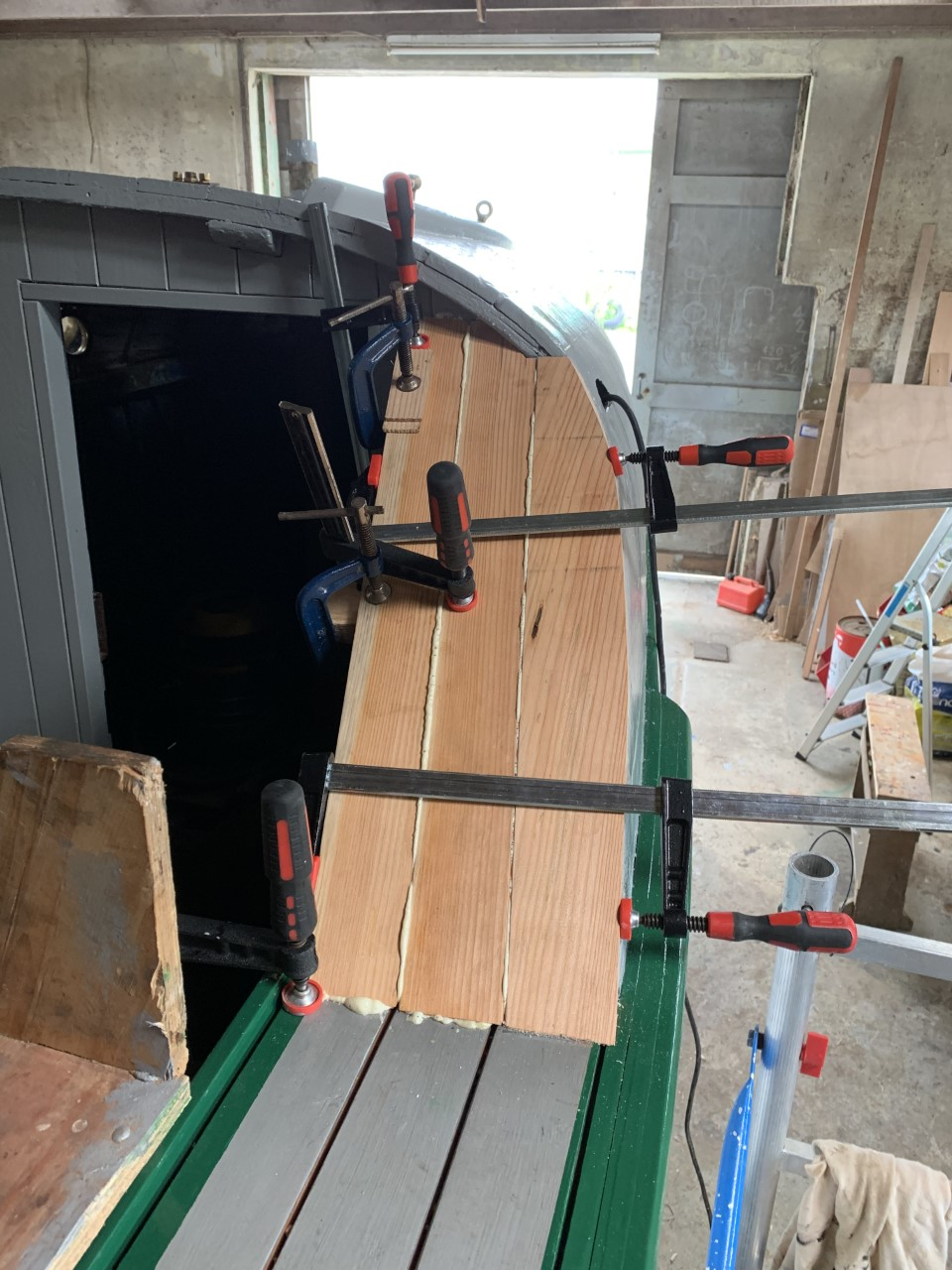 Finishing touches of the professional shipwrights conservation stage 2 work July