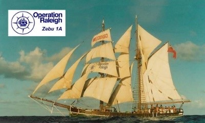 Photo 2: Zebu under full sail during Operation Raleigh 1984-1988
