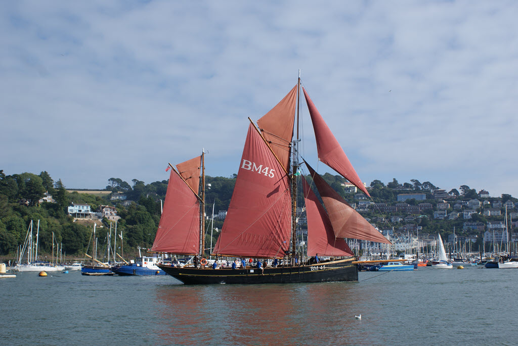 Pilgrim of Brixham BM45 at the Port of Dartmouth Royal Regatta 2018