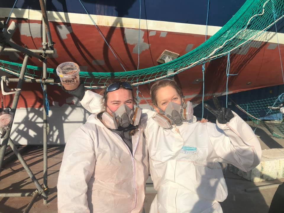 Vessel work on The Cirdan Trust