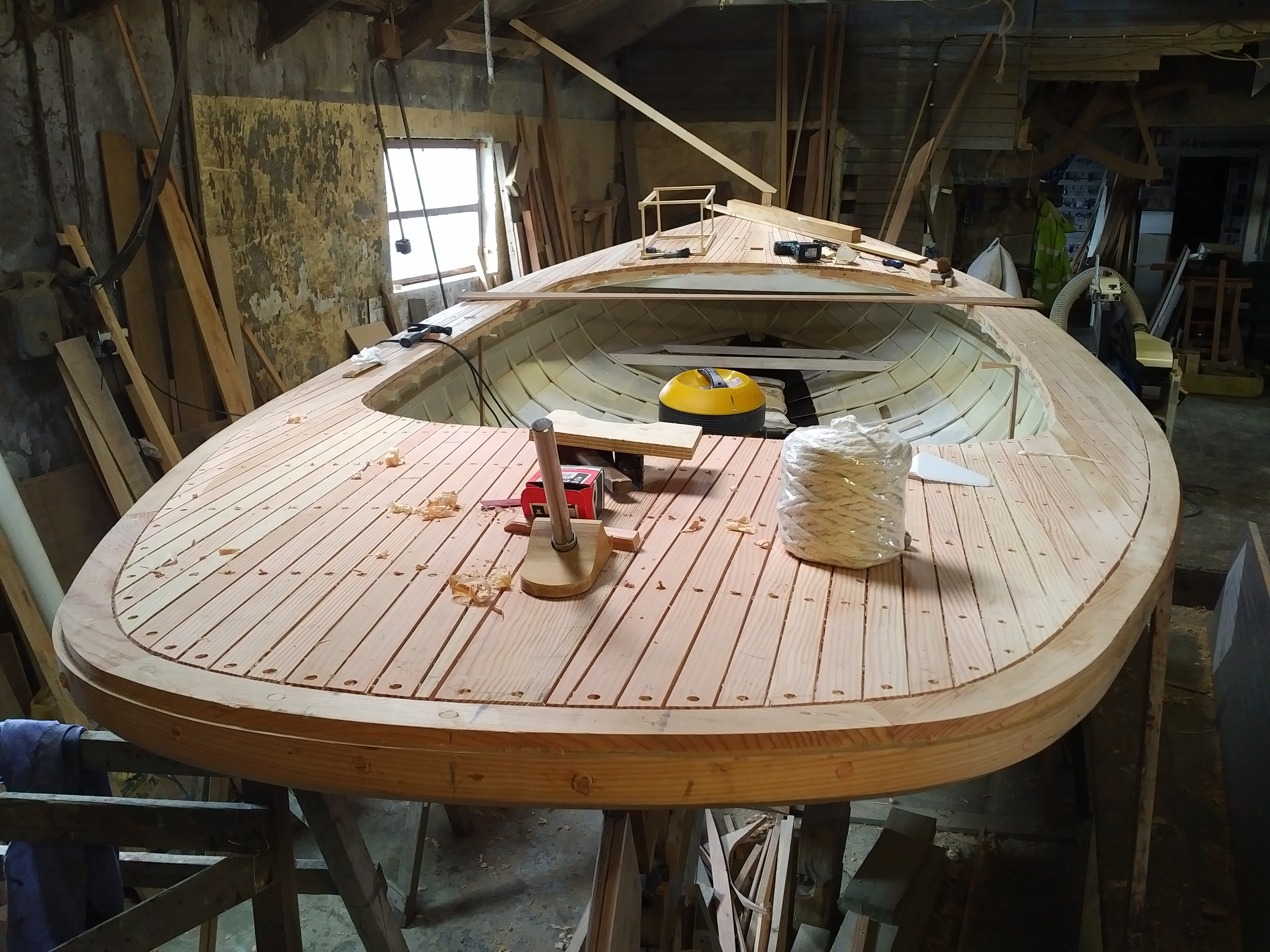 Another counter stern yole in build. This one is destined for the Suffolk rivers launching in 2019
