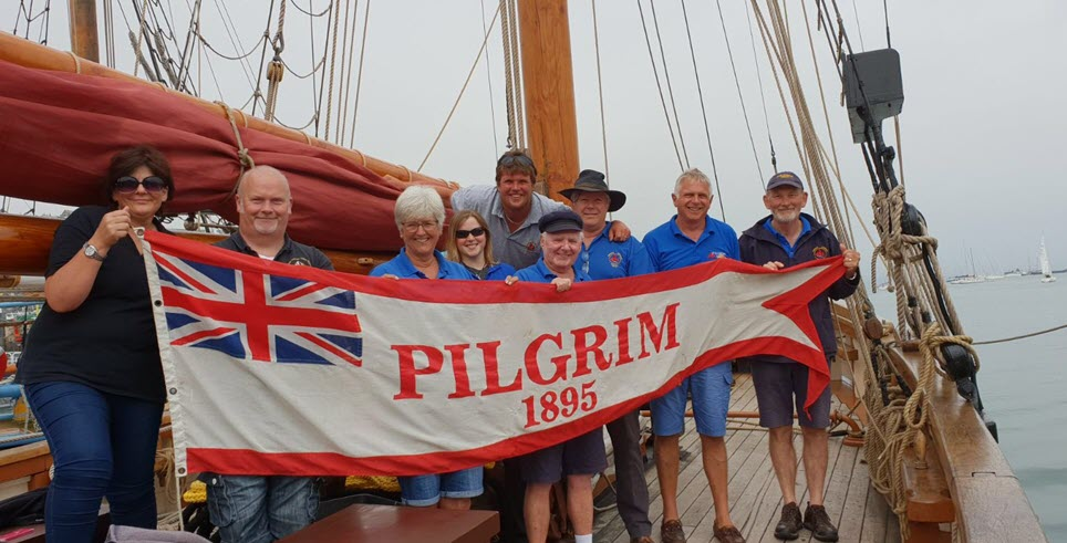 Victorious Pilgrim of Brixham crew for King George V Cup 2018