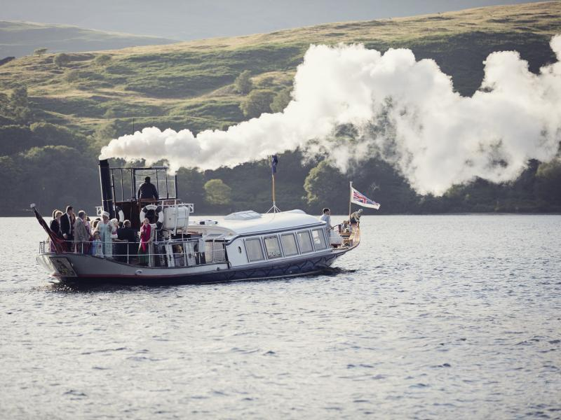 Gondola - underway on Coniston Water