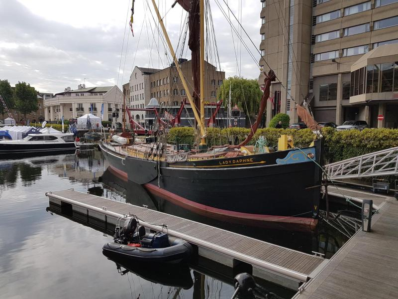 Lady Daphne - in St Katharine's Dock