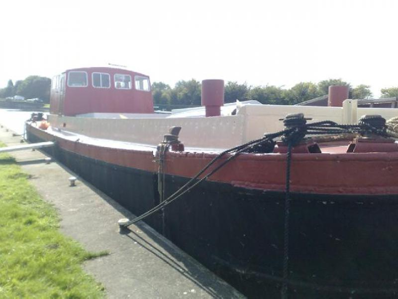 Hunt's Kim - after restoration, moored