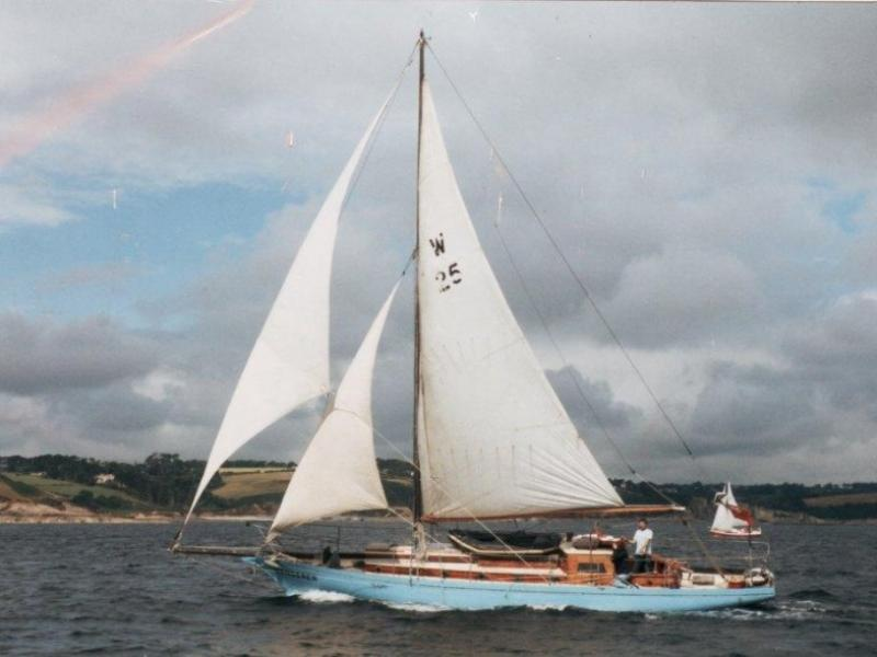 Wanderer II under sail
