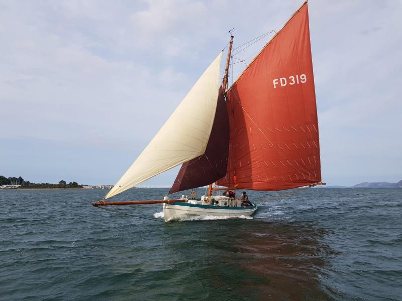 Laura - under sail, post refit 2019 (c) Michael Leahy