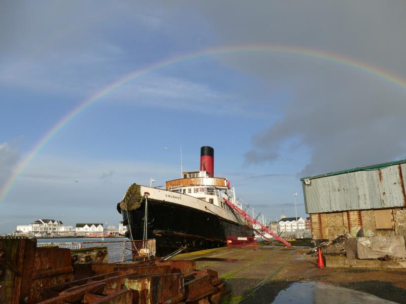 Calshot - rainbow, Dec 2019