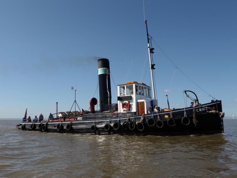 Kerne underrway Jun 2017 (c) Steam Tug Kerne Preservation Soc