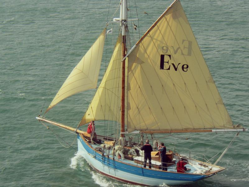 Eve of St Mawes - under sail