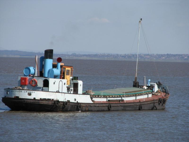 Port side view, underway