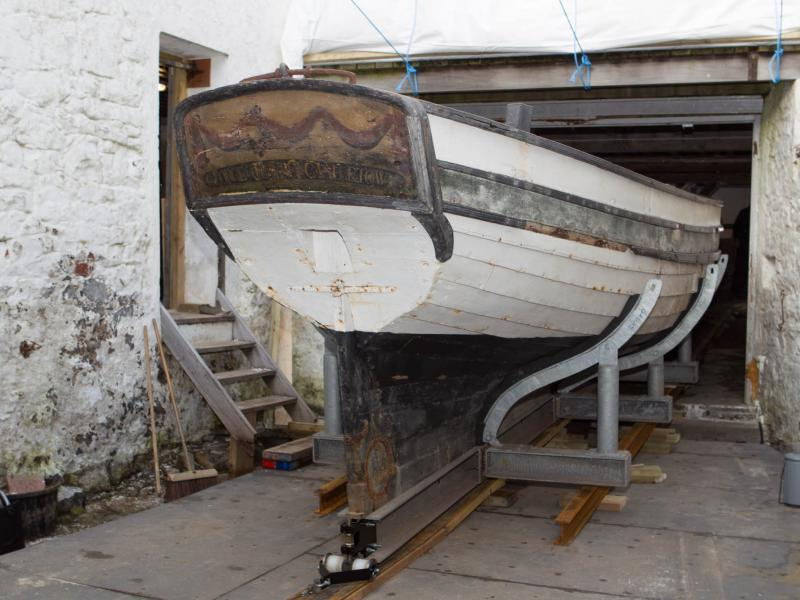 Peggy being moved from Nautical Museum for Conservation, Jan 2015 iii