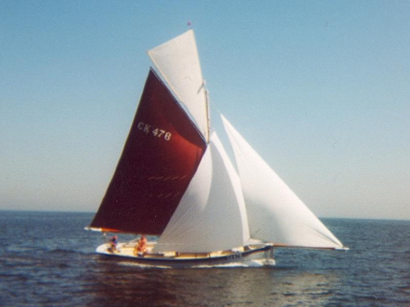 ETHEL ALICE - under sail. Starboard side