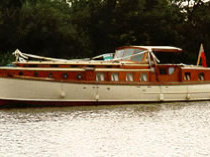 PRINCE OF LIGHT - underway and in use as a wedding boat.