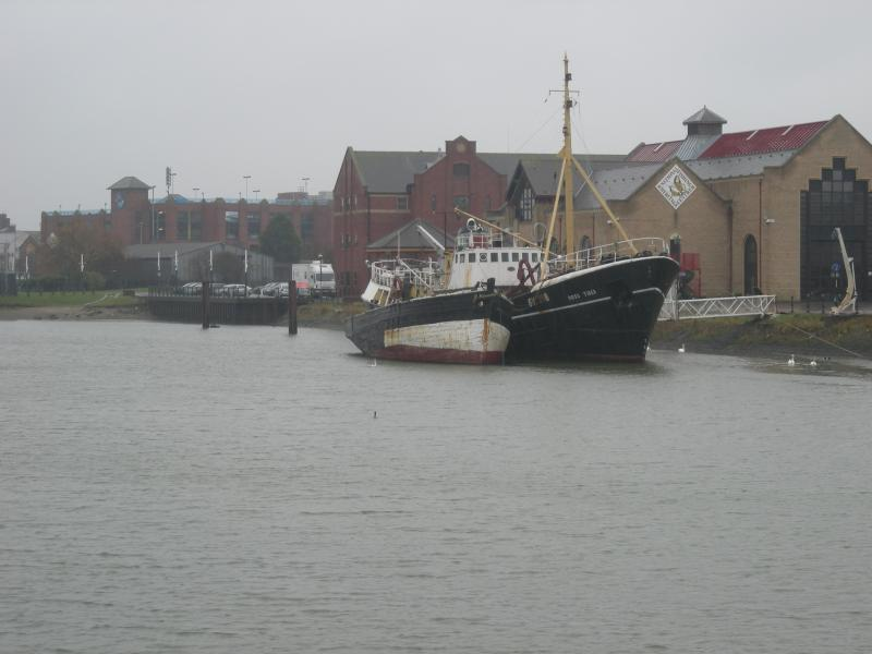Esther- port side moored alongside Ross Tiger