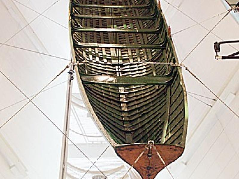 Oxford 1829 Boat - aerial view