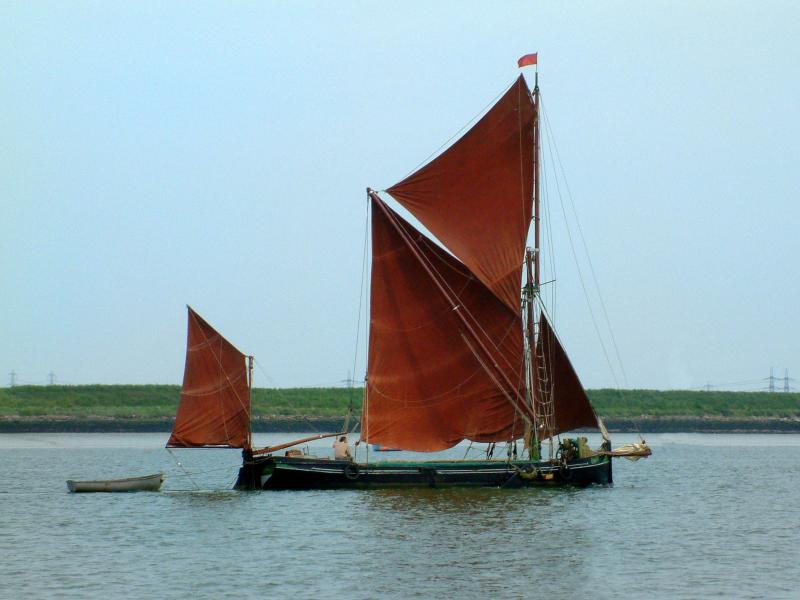 Cygnet under sail - starboard side