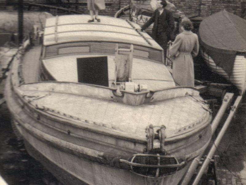 DUNLEARY before conversion in Lambies Boatyard