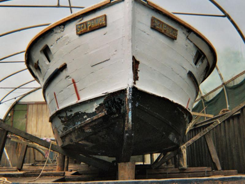 Sea Prince in the boatyard - bow view