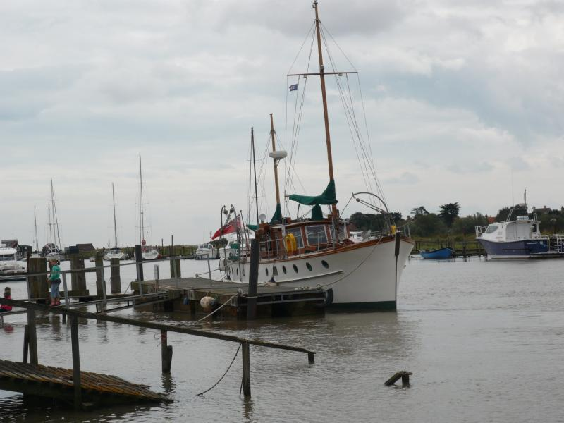 Meridies moored in Southwold