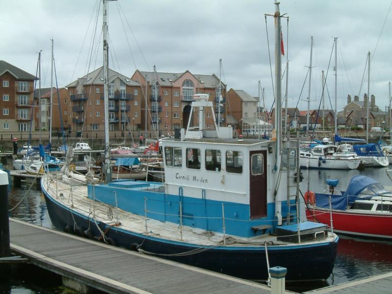 Cornish Maiden alongside - port side