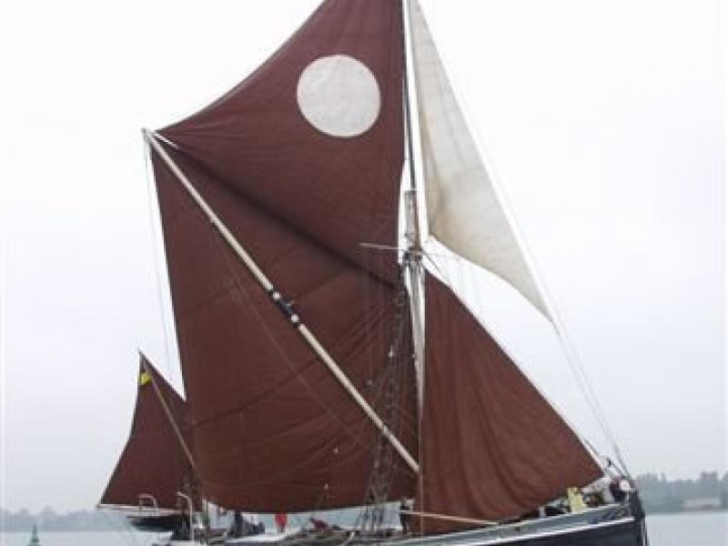 Ethel Ada under sail - starboard side