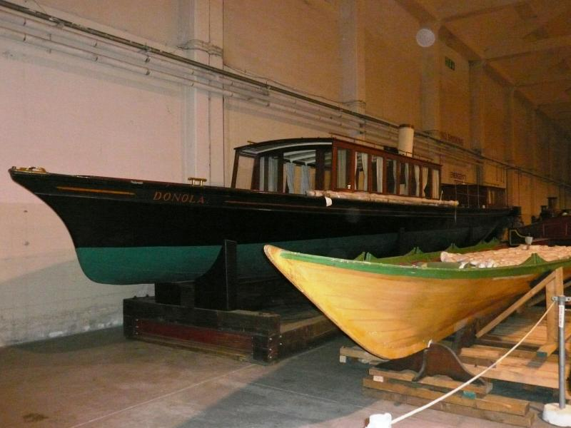 Donola - port bow view, in storage