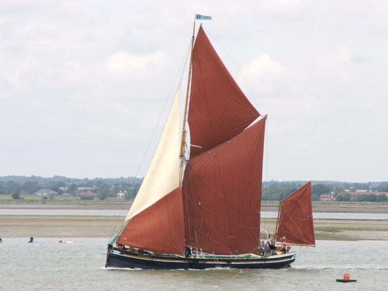 Edith May - port side view, underway, Essex.