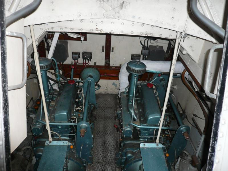 Grace Darling - interior shot of engines, Chatham