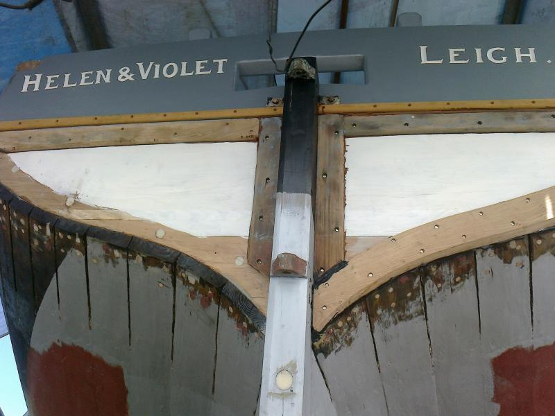 new sternpost and transom