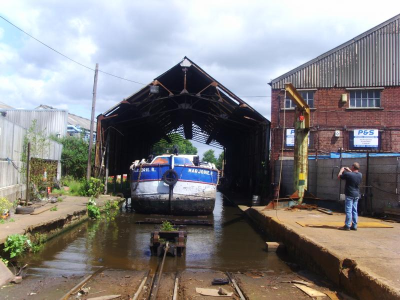 MARJORIE R in dry dock