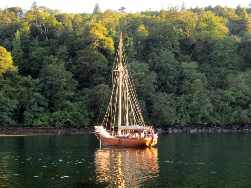 WANDA lying in Aros Bay,Tobermory