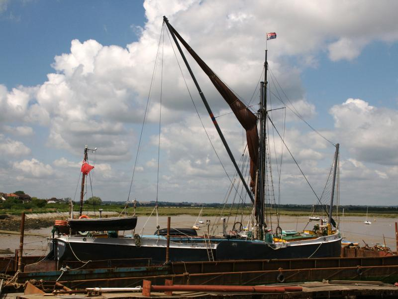 Xylonite - moored, starboard view, Essex.