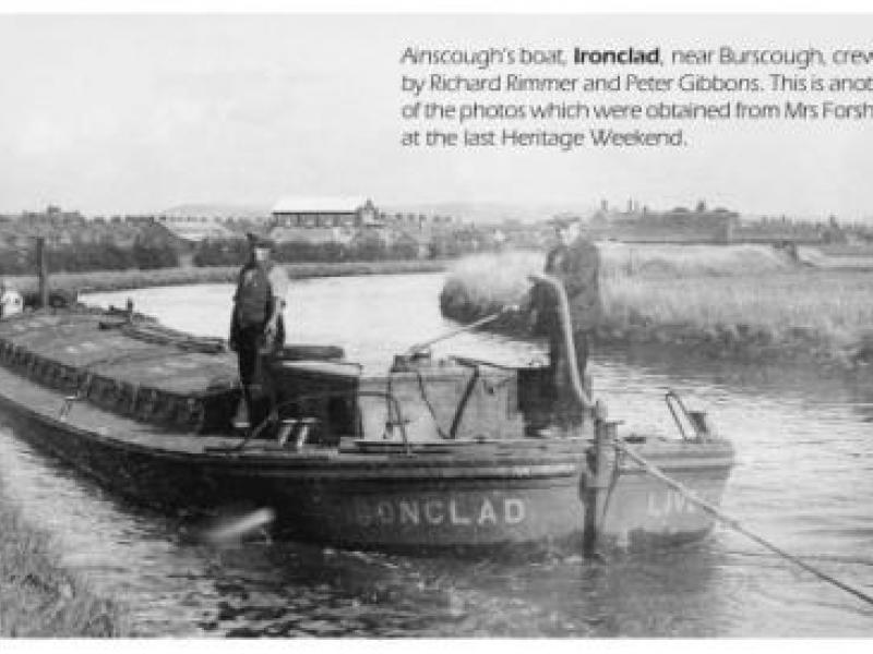 Ironclad - working, taken from 'Clogs & Gansey', a newsletter of the Leeds & Liverpool Canal Society