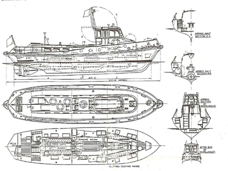 General arrangement of the 45ft customs boat LYNX