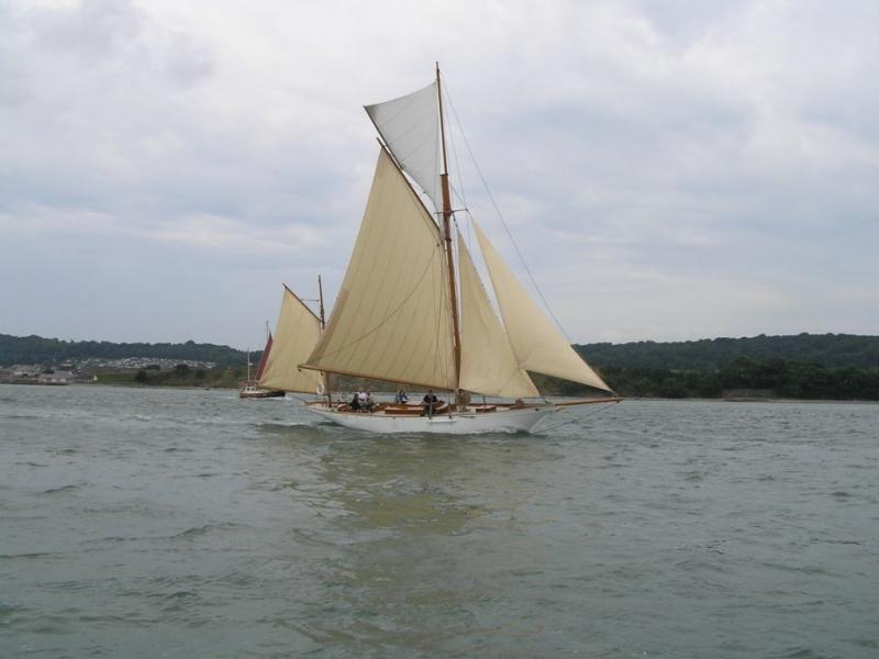 Valerie - under sail following restoration
