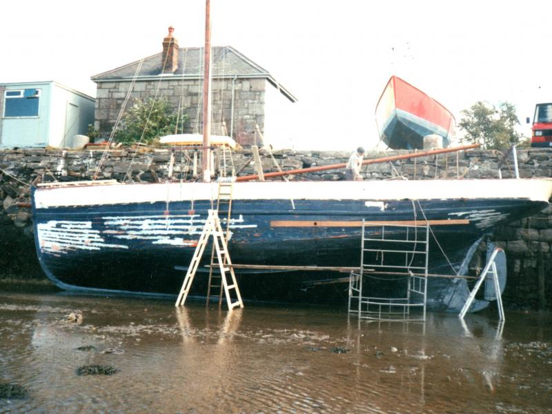 under restoration, port side