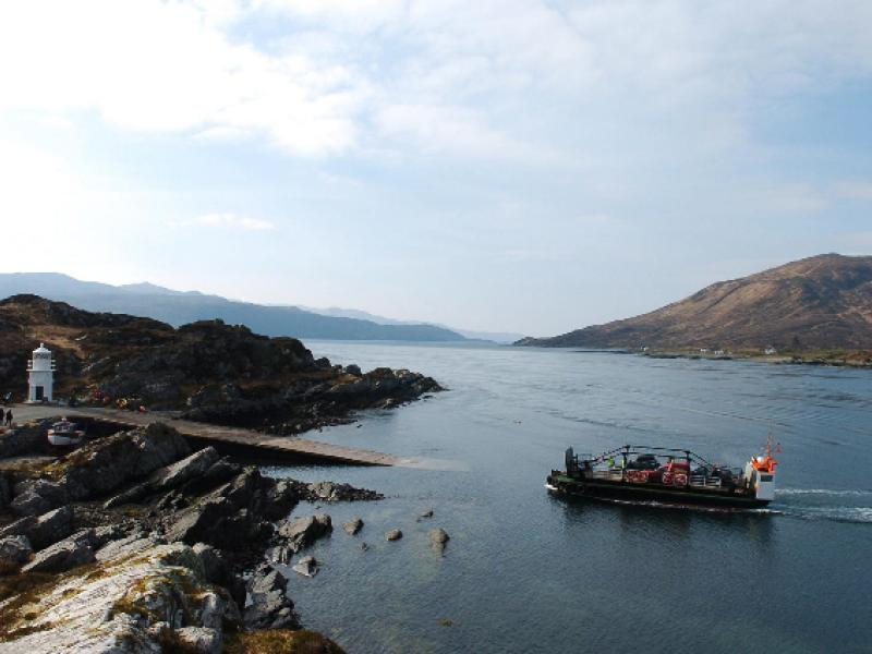 Glenachulish - approaching the Glenelg slipway