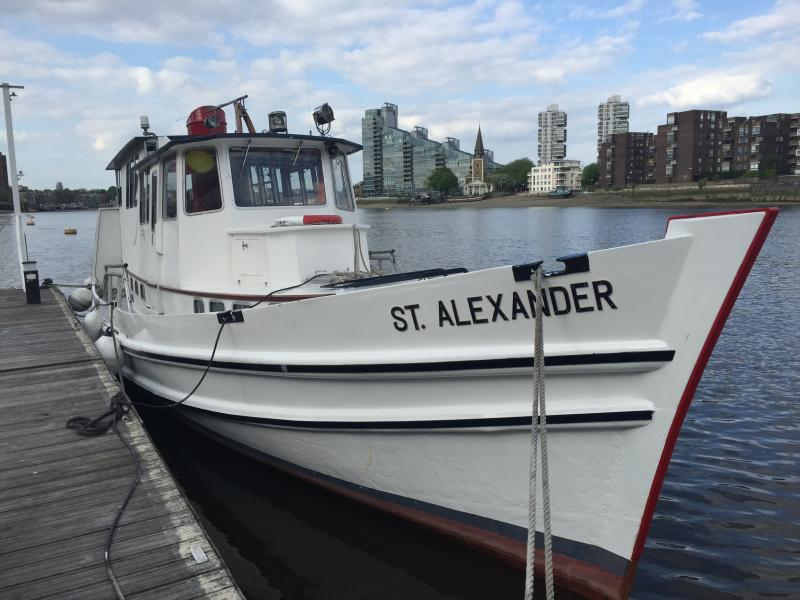 St Alexander Moored at Chelsea