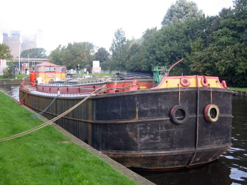 Moored starboard side