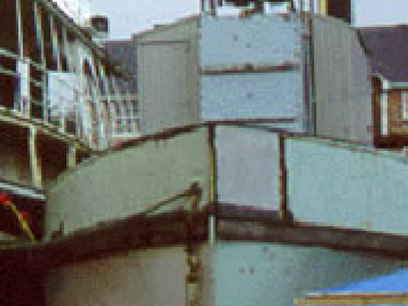 MANNIN 2 - bow from starboard quarter looking aft.