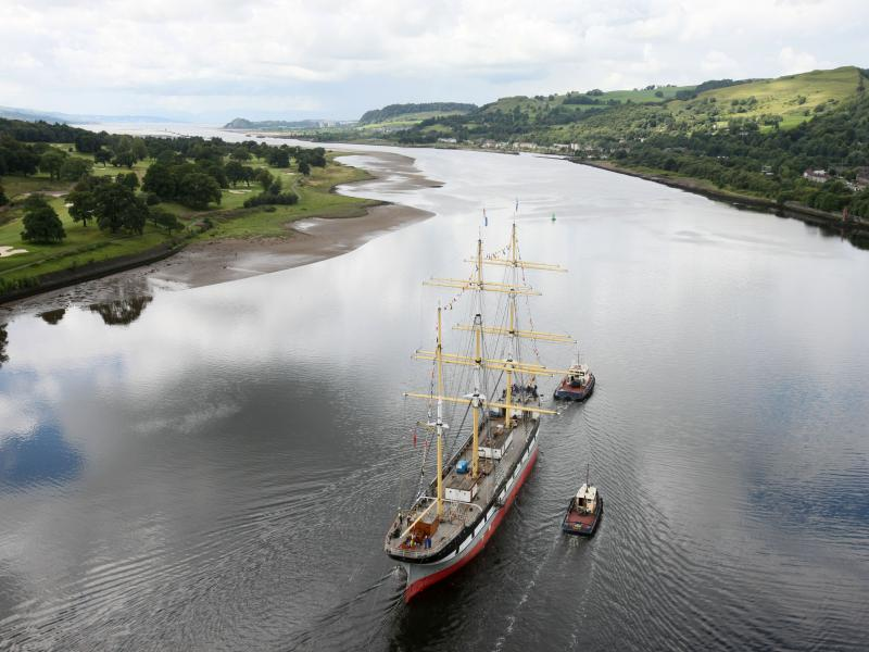 Glasgow Tall Ship Glenlee is towed down the Clyde to go into dry dock at Greenock - Photo Comp entry 2011