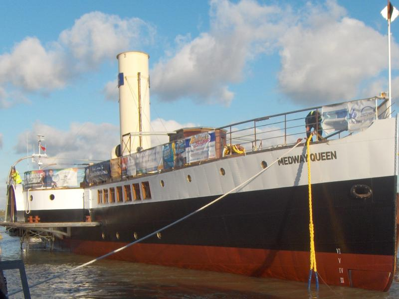 Medway Queen safely moored