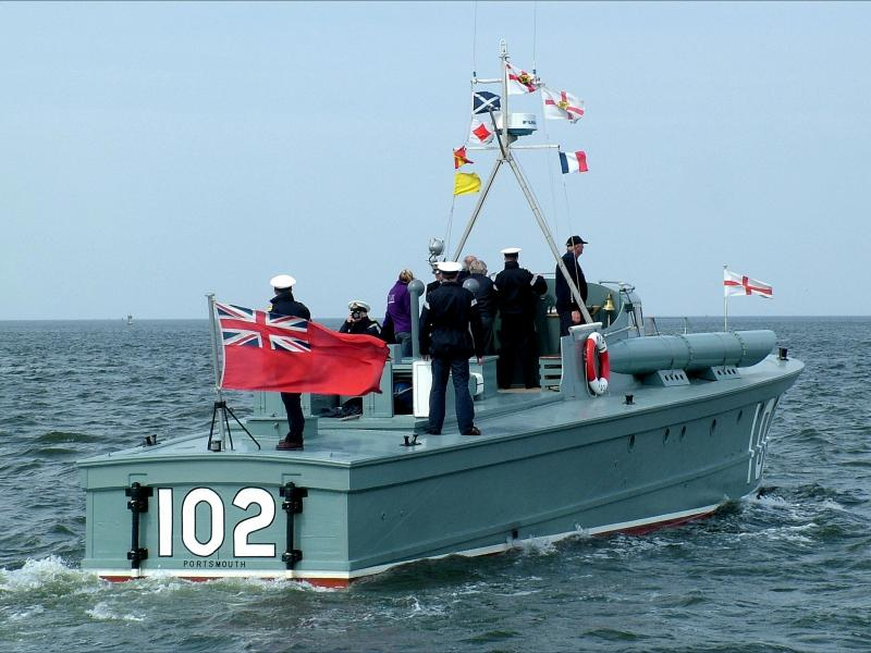 MTB102 sailing as part of the ADLS 70th anniversary fleet, May 2010