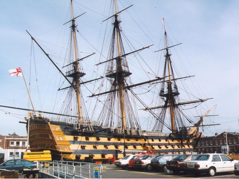 HMS VICTORY - in dry dock No 2, Portsmouth.