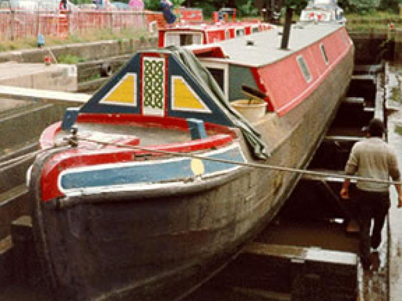 HAZEL in dry dock in Runcorn, July 1993.