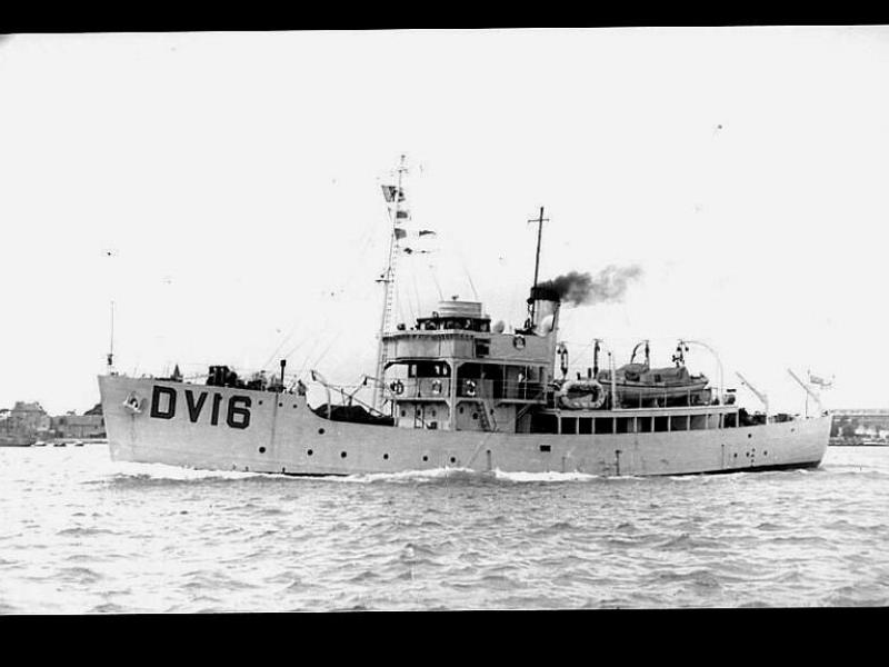 LORRIMAR - port side view, underway, as HMS SKOMER